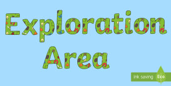 Exploration Area Display Lettering - exploration area, letters