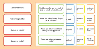 100 Circle Time Questions to Ask Just for Fun Cards - circle time, questions, fun, cards, english, oral language, show and tell, foundation, year 1, year