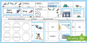 Winter Olympics Activity Pack - EYFS, Early Years, KS1, Key Stage 1, Olympic Games, Pyeongchang 2018, Winter Sports, Skiing, snowboa