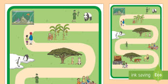 Zoo Role-Play Map - EYFS, Early Years, KS1, Key Stage 1, At the zoo, zoo animals, places, map, Mapping.