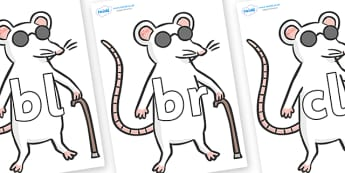 Initial Letter Blends on Blind Mice - Initial Letters, initial letter, letter blend, letter blends, consonant, consonants, digraph, trigraph, literacy, alphabet, letters, foundation stage literacy