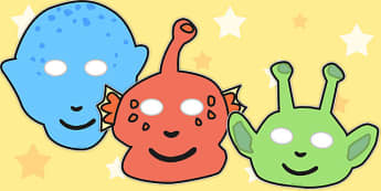 Alien Role Play Masks - role play mask, role play, alien, space, planet