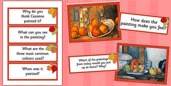 Cezanne Paintings Photopack and Prompt Questions - photo, pack