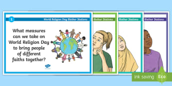 World Religion Day Blether Stations - Faith, Tolerance, RME, Celebration, come and see, WRD