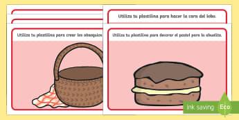Tapices de plastilina: Caperucita roja - caperucita, roja, cuentos tradicionales, manipulación, motricidad fina, motor, motriz, Spanish, Español