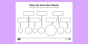 Seven Planets Naming Activity Sheet - space, planets, activity