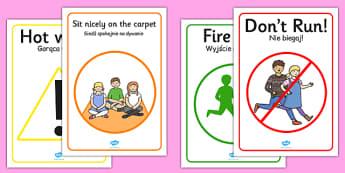Safety Posters Polish Translation - polish, safety posters, safety, posters, display
