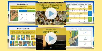 Samba Activity Pack - Music, Brazil, instruments, rhythm, dance, south america