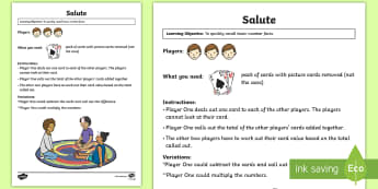 Salute Maths Game - Maths Games, number facts, multiplication game, addition game, missing number