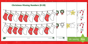 Christmas Missing Numbers 0-20 Worksheet / Activity Sheets - Christmas Missing Numbers (0-20) Activity - christmas, numeracy, numbes, chritmas, chriatmas, christ