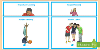 Respectful Behavior Display Posters - special education, respect, behavior, display, posters, bulletin board, manners, class rules, expect