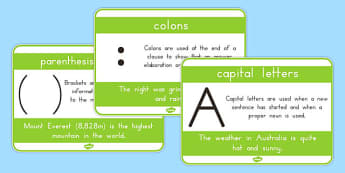 Punctuation Display Posters - punctuation, literacy, english