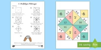 6 Malfolge Wahrsager Spiel - 6 Times Table Fortune Teller - 6 times table, times table, times tables, fortune teller, activity, c