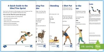 Class Pentathlon Guide - athletics, PE, physical Education, shot put, push throw, pull throw, long jump,