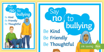 Anti-Bullying Week: Say No to Bullying Poster - anti-bullying week, say no, bullying, poster, display