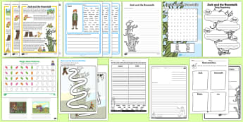 Jack and the Beanstalk Worksheets - - SEO RAnking Topic Resources