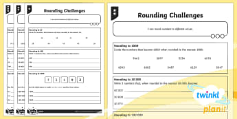 PlanIt Maths Y5 Number and Place Value Rounding Challenges Home Learning Tasks