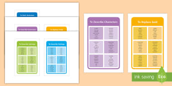 Using Higher Level Vocabulary Fiction Words IKEA Tolsby Frame - Using Higher Level Vocabulary Fiction Word Mat Pack - vocabulary, ks2 vocabulary, vocabulary word ma