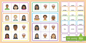 Feelings Bingo - Feelings, emotions, UAE, bingo, game, match, snap, lotto, Middle East