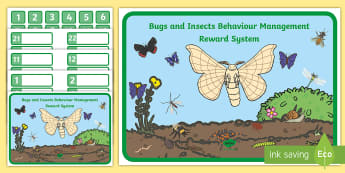Bugs and Insects Behaviour Management Reward System - New Zealand, bugs and insects, minibeasts, Aotearoa, science, the living world, behaviour management