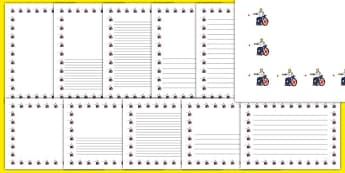 The Paralympics Boccia Page Borders - Boccia, ball, Paralympics, sports, wheelchair, visually impaired, page border, border, writing template, writing aid, writing, 2012, London, Olympics, events, medal, compete, Olympic Games