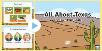 All About Texas PowerPoint - Texas, Texas history, all about, states, USA, all about Texas