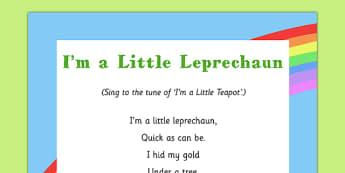 I'm a Little Leprechaun Song - St Patricks Day, leprechaun, eyfs, song