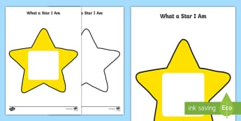 What A Star I Am Activity Sheet - Transition, New Class, Moving Classes, Wishes, KS1, Worksheet