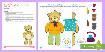 Dress Ted Clothes-Themed Busy Bag Resource Pack for Parents - clothes, dressing, self care, matching, getting dressed, outfits, toddler play, preschool play