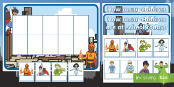 Superheroes Editable Self-Registration Ten-Frame Resource Pack - Superhero, Superheroes, Ten Frame, Maths Mastery, Counting, Number, Calculating,Self-Registration, R