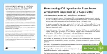 JCQ Regulations 2016-2017 Adult Guidance - Access arrangements, jcq, exam, adult, guidance, sen, senco, teacher, test, school, policy