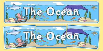 The Ocean Display Banner - the ocean, ocean, display banner, display, banner, world, water