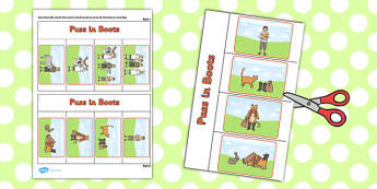 Puss in Boots Story Writing Flap Book - flap book, puss in boots