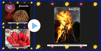 Bonfire Night Display Photo PowerPoint - bonfire night, photo powerpoint, powerpoint, bonfire night photos, image, picture, presentation, discussion starters