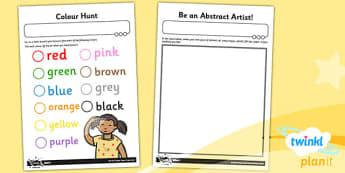 Art: Colour Chaos: KS1 Home Learning Tasks