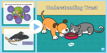 Understanding Trust PowerPoint - Friendship, PSHE, Honest, Reliable, Aesop's Fables