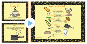 Vegetable Soup Recipe PowerPoint - powerpoint, recipe, soup