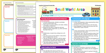 Small World Area Continuous Provision Plan Posters Reception FS2