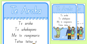 Te Aroha A4 Display Poster
