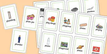 Two Syllable PL Sound Playing Cards - two syllable, pl sound, playing cards, sound, pl