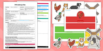 Little Red Hen Storytelling EYFS Adult Input Plan And Resource Pack - traditional, tale, story, wheat, bread, early years, lesson, activity, red, hen, psed