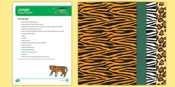 Jungle and Rainforest Treasure Basket Ideas - Jungle and Rainforest, heuristic play, sensory play, exploration