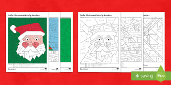 KS3 Christmas: Colour by Numbers Differentiated Activity Pack - bIDMAS, BODMAS, Multiplications, Times Table, Christmas tree, Santa, calculator colouring