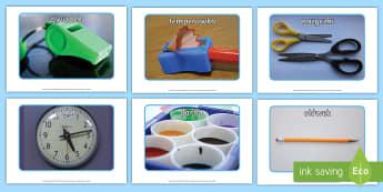 Plakaty ze zdjęciami Przedmioty szkolne - zdjęcia, artykuły, przedmioty, szkolne, papiernicze, nożyczki, pisaki, ołówek, długopis, papie