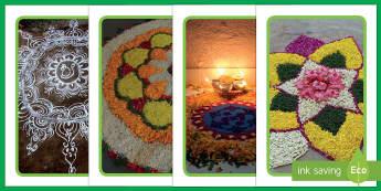IKEA Tolsby Rangoli Pattern Photos Prompt Frame - IKEA Tolsby Prompt Frame, rangoli patterns, rangoli, divali