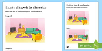 My Living Room Spot The Differences Game - Spanish Speaking Practice, living room, house, spot the differences, prepositions, diferencias - Spanish Speaking Practice, living room, house, spot the differences, prepositions, diferencias