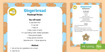 Gingerbread Playdough Recipe - playdough, recipe, gingerbread