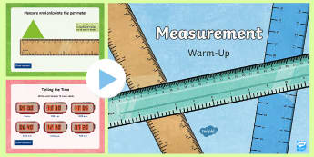 Year 3 Measurement Maths Warm-Up PowerPoint - KS2 Maths warm up powerpoints, ks2 maths warm up powerpoints, warm-up, warm ups, maths, year 3 maths