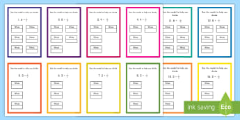 Dividing Unit Fractions with Visuals Task Cards - division, unit fraction, fraction, problem solving, challenge, challenge cards, 5.nf.b.7,