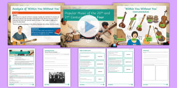 Popular Music of the 20th and 21st Centuries: Lesson 4 - Music, KS4, Secondary, Listening, Popular Music